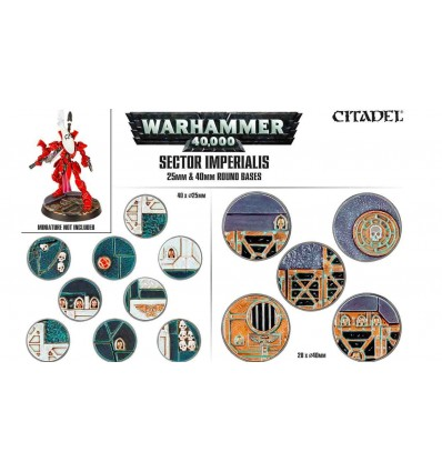 Sector imperialis Socles Ronds 25mm & 40mm