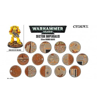 Sector imperialis Socles Ronds 32mm